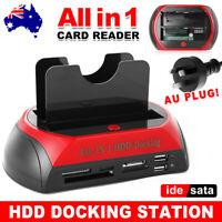 "USB Dual SATA IDE 2.5"" 3.5"" Hard Disk Drive HDD Dock Docking Station Caddy Case"