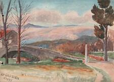 Paisaje Saint-Cassien Francia Victoriano Acuarela Pintura 1899
