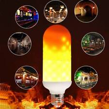 E27 LED Flame Effect Fire Light Bulb Flickering Lamp Simulated Decor Cute