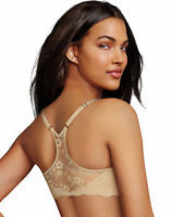 Bra Lace Extra Coverage Maidenform One Fab Fit Lift T-Back Front Close 07112