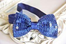 boda con Purpurina Lentejuelas Arco diadema elástica Venda del pelo bebé fiesta