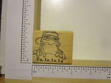 Rubber Stamp by RUBBER HEADS Fa,la,la,la Christmas Frog