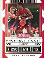 Deandre Ayton 2020-21 Contenders Draft Picks Prospect Ticket Card #21 Arizona