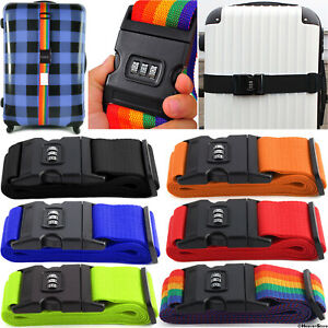 Suitcase Luggage Baggage Straps Combination Lock Belt Tie Down Travel