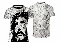 NEW MENS SOFT TOUCH TEE JESUS FACE ALLOVER T-SHIRT US/UK FIT&SIZES