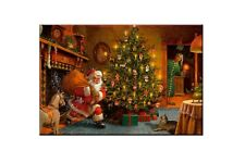 Christmas Best Gift Home Wall Decor Santa Claus Painting Printed On Canvas II