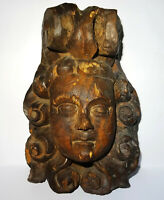 RELIEF BOIS TETE DE CHERUBIN - ART BAROQUE 16° SIECLE - CARVED WOOD CHERUB HEAD