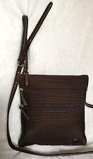DOONEY & BOURKE Padded Brown Leather/Nylon Cross Body/Shoulder Bag / Handbag