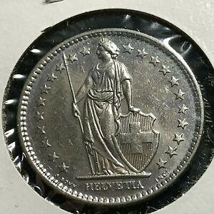 1978 SWITZERLAND 2 FRANCS COIN BRILLIANT UNCIRCULATED CUPRO NICKEL