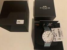 Coach | Womens Perry | Teal Leather Strap White 14503271 Watch RRP £95
