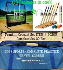 JUGS SPORTS COMPLETE PRACTICE ((2 IN ONE)) & Franklin Croquet Set 29 Pcs. USED