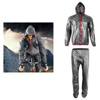 Bike Bicycle Cycling Full Rain Suit Waterproof Hooded Rain Coat Jacket