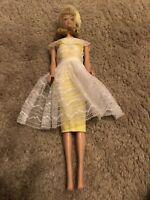 Vintage Authentic Midge Barbie Doll With Yellow Bridesmaid Dress - Look!! RARE!!