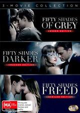 Fifty Shades 3-movie Collection DVD Region 4 Grey Darker Freed