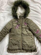 Girls Coat George Khaki Hooded Age 5-6
