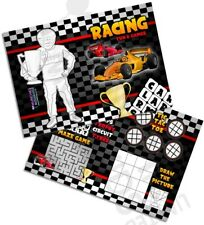 Pack of 12 Racing Cars Fun and Games Activity Sheets Party Bag Books Fillers F1