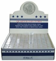 Clear Round Quarter Coin Tubes by HE Harris QTY-10