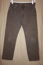 Vtg Wrangler 13MWZKL 34x32 Brown Cowboy Cut Cotton Jeans Suspender Buttons USA