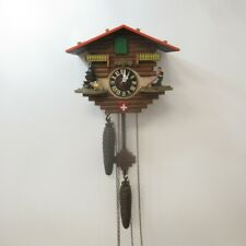 Vintage Cuckoo Style Clock - Swiss Chalet Theme - Mechanical Movement - Running