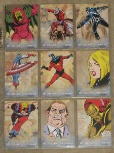 UD 2011 Marvel Avengers Kree-Skrull War Retro Character Inserts(R) - Lot of 22