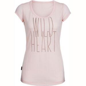 Size L -  Icebreaker Merino Women's Spheria SS Wild Heart Scoop Rrp $110