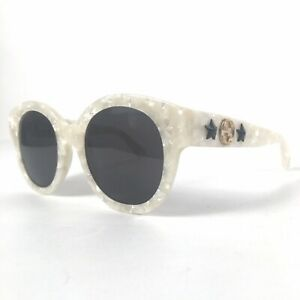 Preowned Gucci Fashion Sunglasses GG0207S 51mm White AUTHENTIC Womens Stars BG