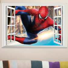 3D SPIDERMAN Window Wall Stickers Boys Kids Nursery Mural DIY Vinyl Decal Decor