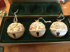 Hallmark Ornament Club 30th Anniversary Porcelain Bells 3 Pc Set Frosty Mary's