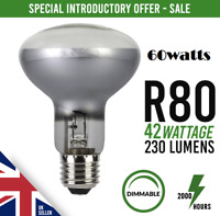 10x R80 Dimmable Halogen Downlighter Reflector Spot Light Bulb E27 ES 42w 60w