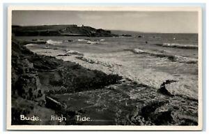 Postcard Bude High Tide Cornwall