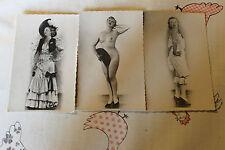 3 cartes postale de Hélene DIX danceuse nue chanteuse de cabaret année 30 40