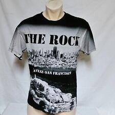 VTG The Rock Alcatraz Prison T Shirt All Over Print Tee Tourist 90s Crime Large