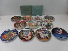 Avon Fine Collectibles Christmas Plates Lot -- 1988-1997 - 22KT Gold Trim