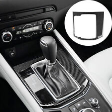 For Mazda CX-5 CX5 2017 2018 Carbon Fiber Center Console Gear Shift Cover Trim