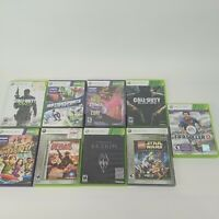 Xbox 360 Video Game Lot - Bundle of 9 Games