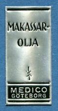 Advertisement Original Seal Label A42 Silver MNH Makassar Oil Medico Goteborg