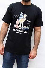 MAROCCO MARRAKECH Souvenir Travel Camel Theme Black T SHIRT XL or XXL Good
