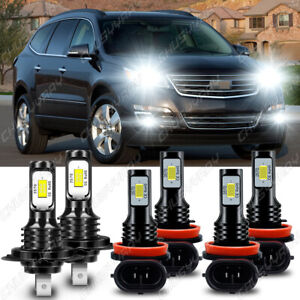 For Chevy Traverse 2013-2018 LED Headlight Hi / Lo Beam + Fog Lights Bulbs Combo