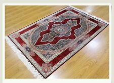 Rug Luxury Carpet 4' X 6' Silk Kerman Unique Design