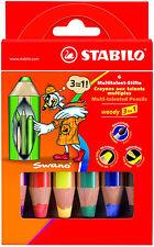 6 STABILO Woody 3 In 1 Etui Multitalent - stifte