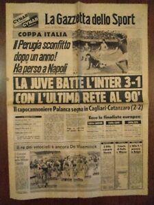 GAZZETTA DELLO SPORT GIOVEDÌ 26/4/1979 QUARTI COPPA ITALIA: JUVENTUS-INTER 3-1