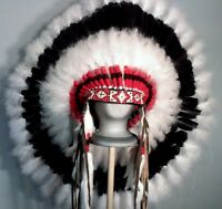 Native American Proud Warrior Feather Headdress War Bonnet