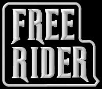 Free Rider ecusson brodé patche Thermocollant  iron-on patch