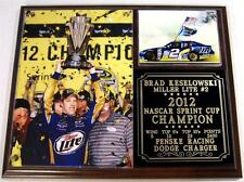 Brad Keselowski #2 2012 Sprint Cup Champion Photo Plaque Penske Racing Dodge