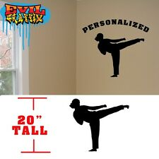 Taekwondo Girl Personalized Martial Arts decal, Taekwondo Girl vinyl sticker