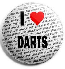 I Love Darts Badge Magnet Back - Gift - Birthday - Stocking Filler
