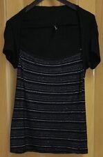 AMISU Damen Oberteil Bluse Top Größe XS = 34 Schwarz