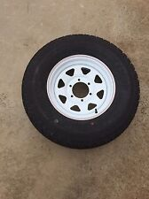 Sunraysia White Rim and Tyre 235 75 R15 LT For Trailer Camper Caravan 6 Stud