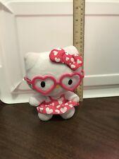 "Ty Sanrio Hello Kitty 6"" Plush with Glasses 2013"