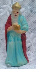 Vtg Paper Mache Wise Man King Christmas Nativity Figurine Germany Old
